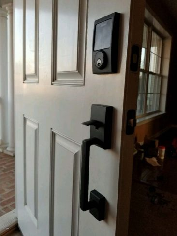 A&J Electronic Door Lock Installed